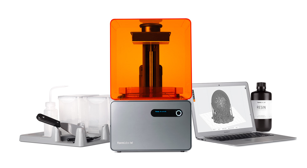 Form 1+, Finish Kit, Formlabs Resin, and PreForm software